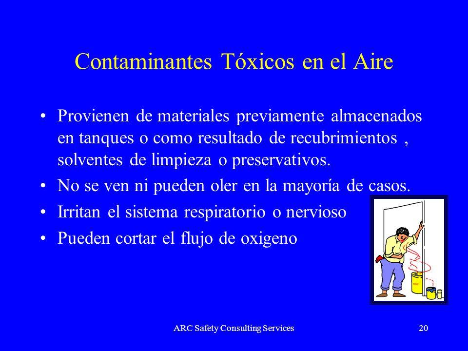 Contaminantes Tóxicos en el Aire