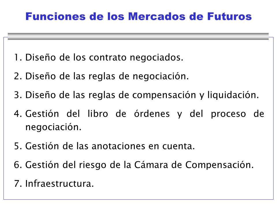 Funciones de los Mercados de Futuros