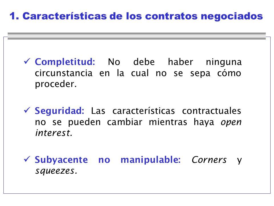 1. Características de los contratos negociados