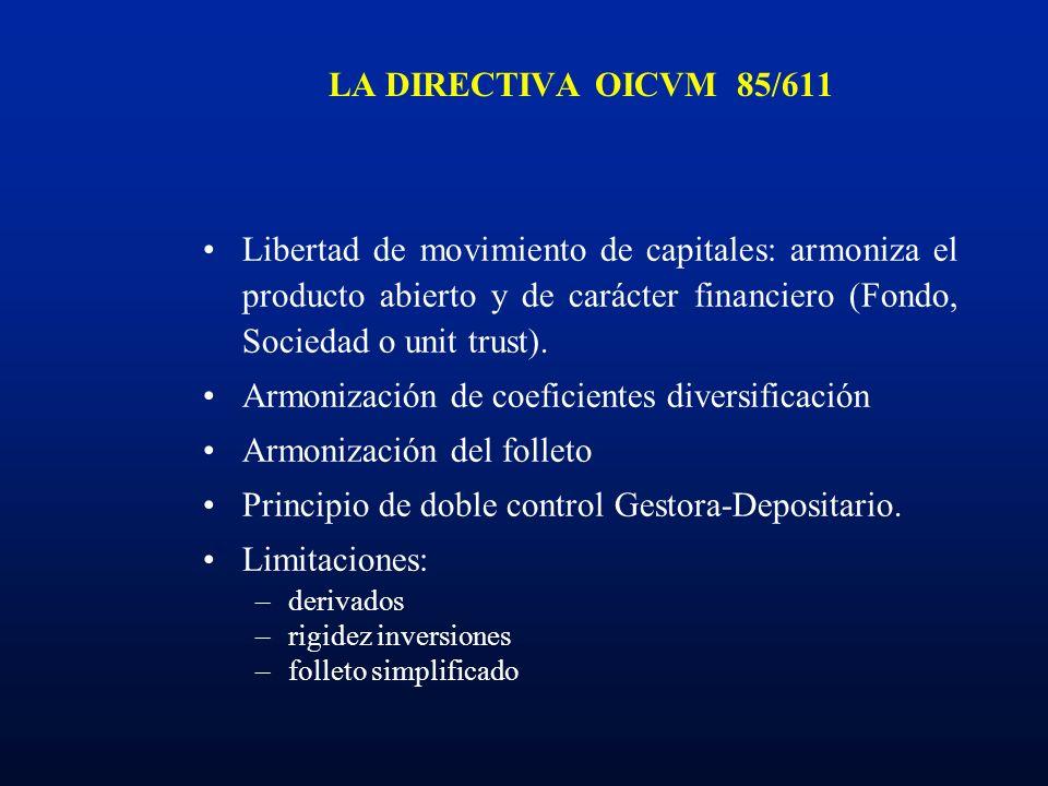 Armonización de coeficientes diversificación Armonización del folleto