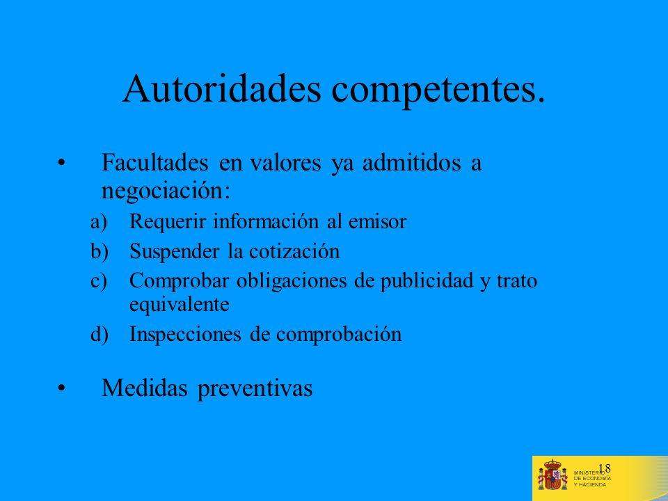 Autoridades competentes.