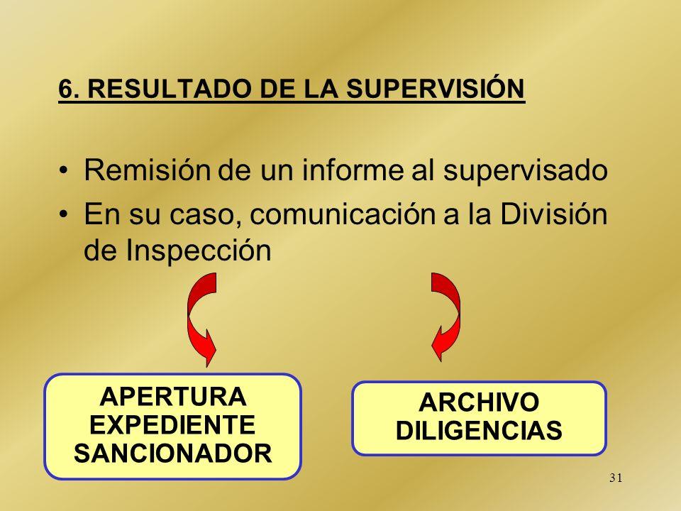 6. RESULTADO DE LA SUPERVISIÓN
