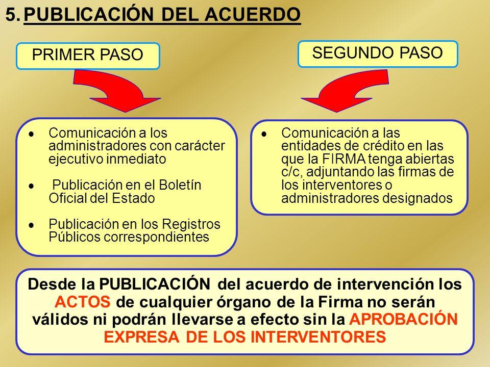 5. PUBLICACIÓN DEL ACUERDO