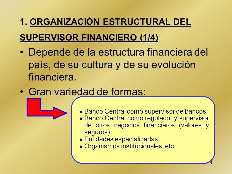 1. ORGANIZACIÓN ESTRUCTURAL DEL SUPERVISOR FINANCIERO (1/4)