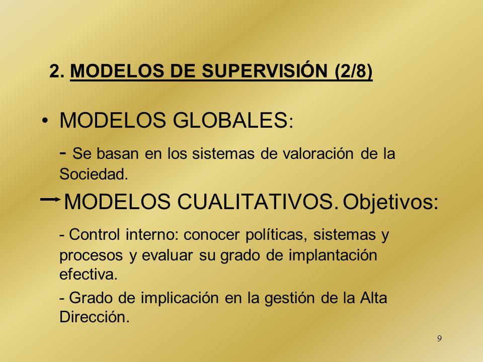 - Se basan en los sistemas de valoración de la Sociedad.