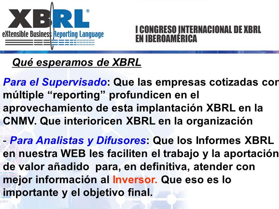 Qué esperamos de XBRL