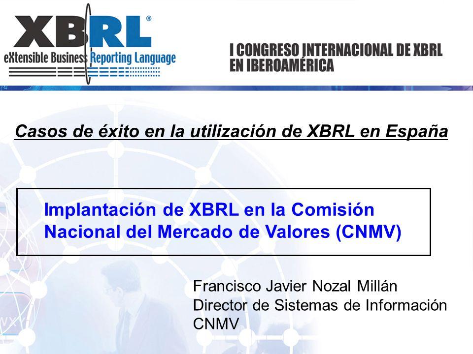 Casos de éxito en la utilización de XBRL en España