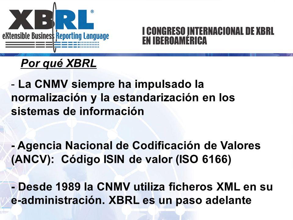 Por qué XBRL La CNMV siempre ha impulsado la normalización y la estandarización en los sistemas de información.