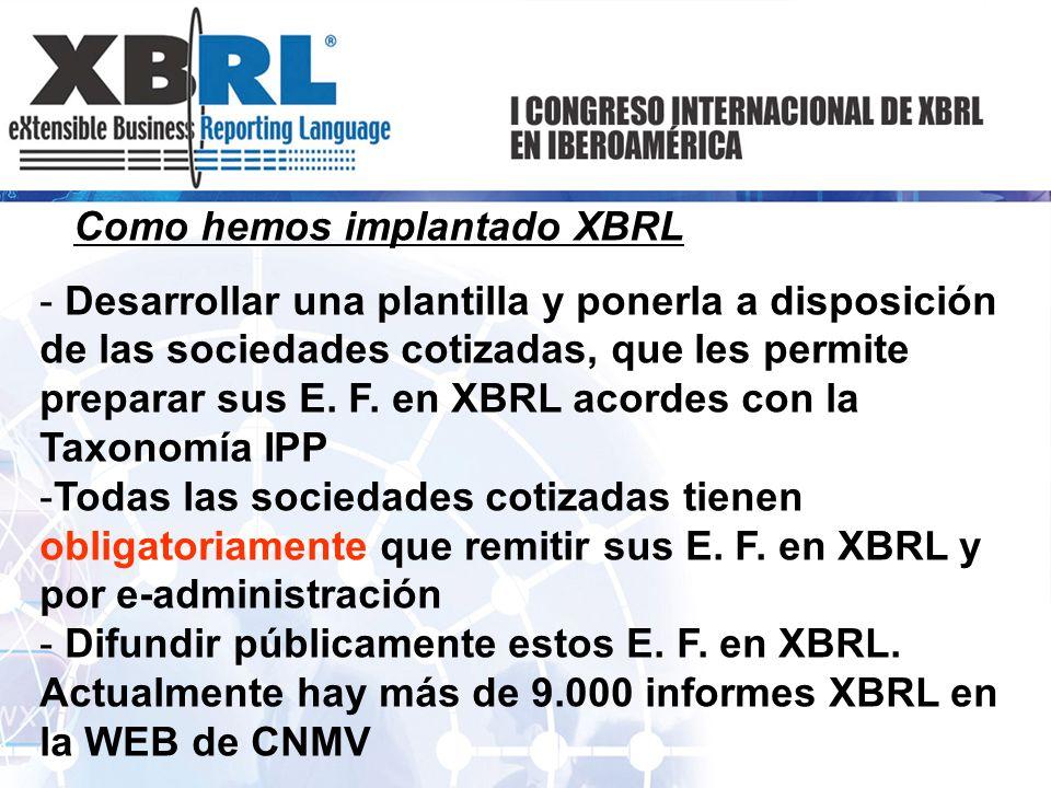 Como hemos implantado XBRL