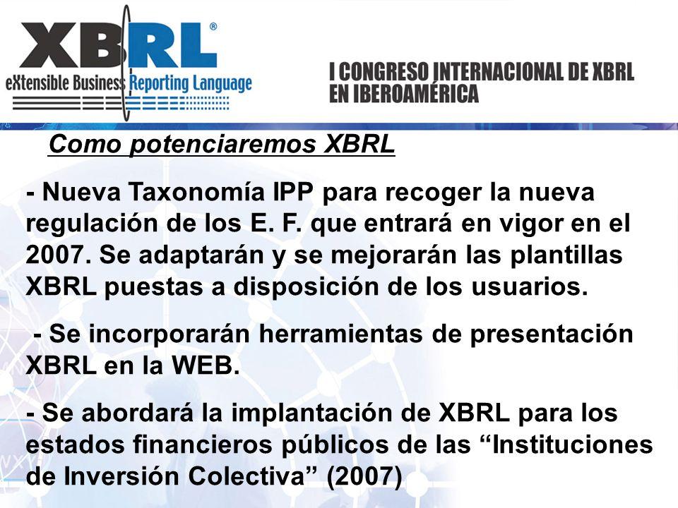 Como potenciaremos XBRL