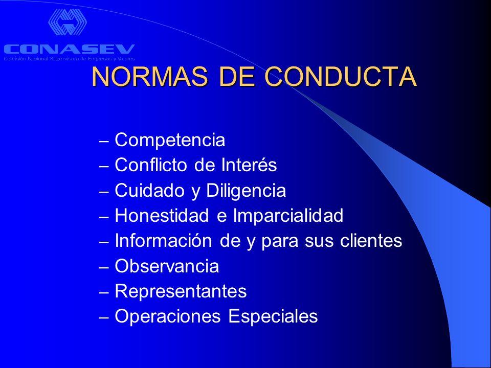 NORMAS DE CONDUCTA Competencia Conflicto de Interés