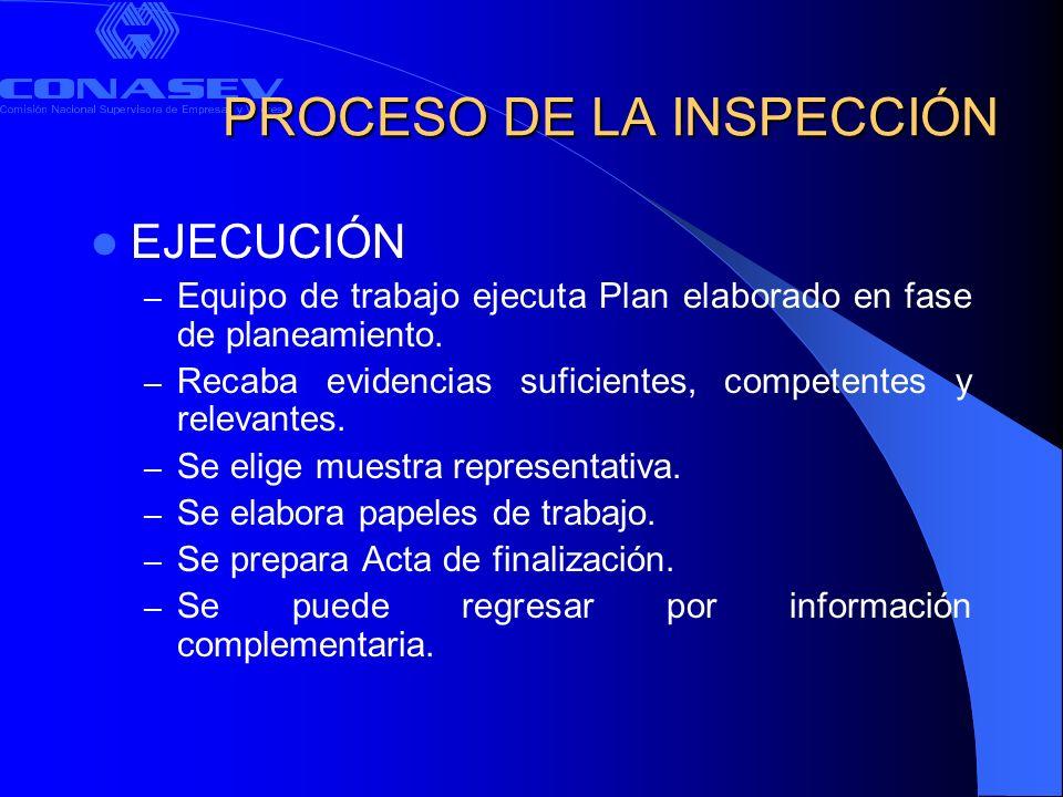PROCESO DE LA INSPECCIÓN