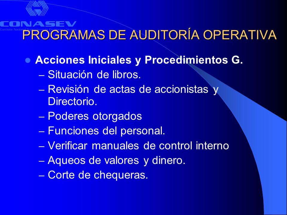 PROGRAMAS DE AUDITORÍA OPERATIVA