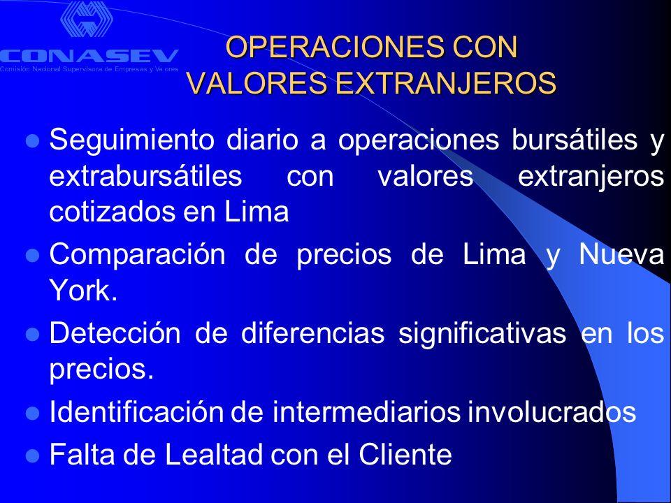 OPERACIONES CON VALORES EXTRANJEROS