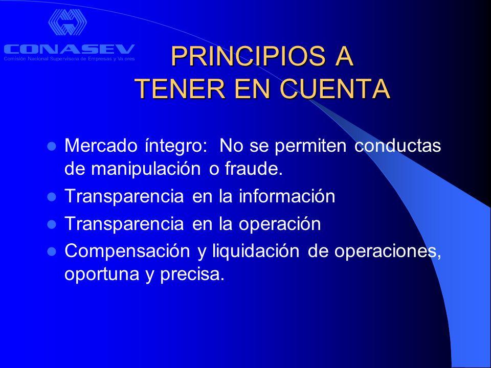 PRINCIPIOS A TENER EN CUENTA
