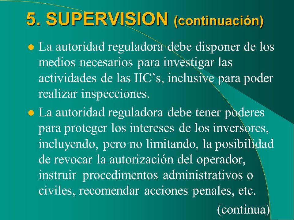 5. SUPERVISION (continuación)