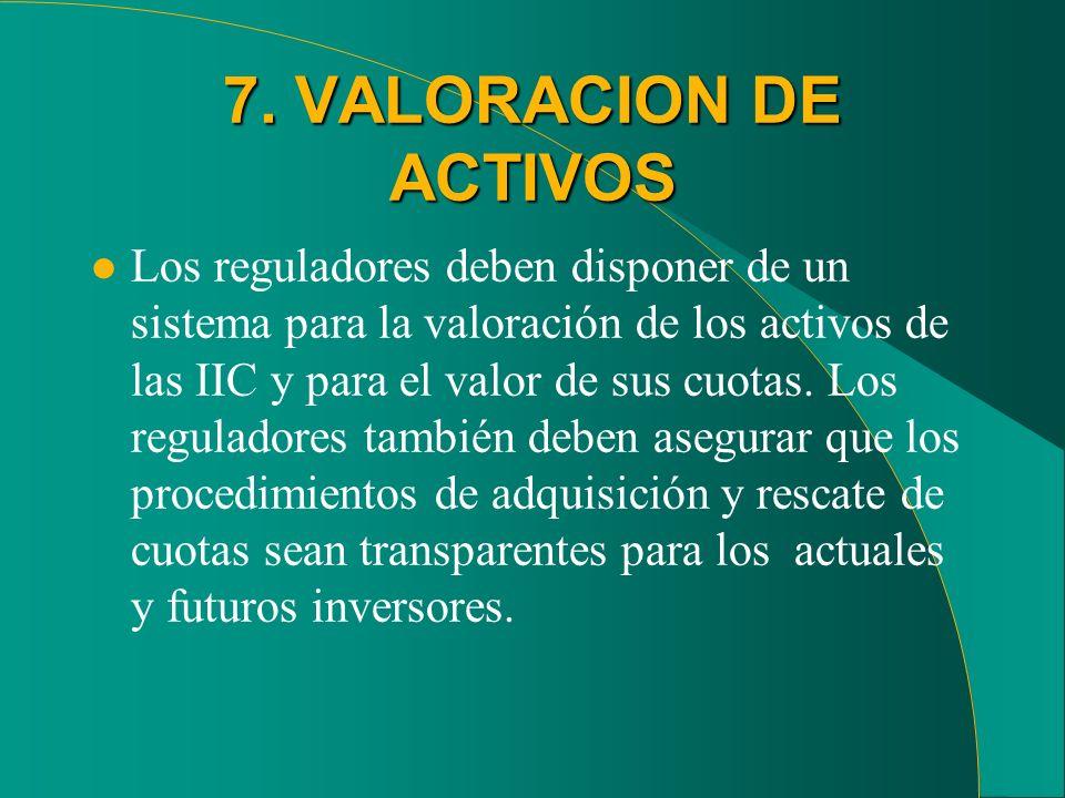 7. VALORACION DE ACTIVOS