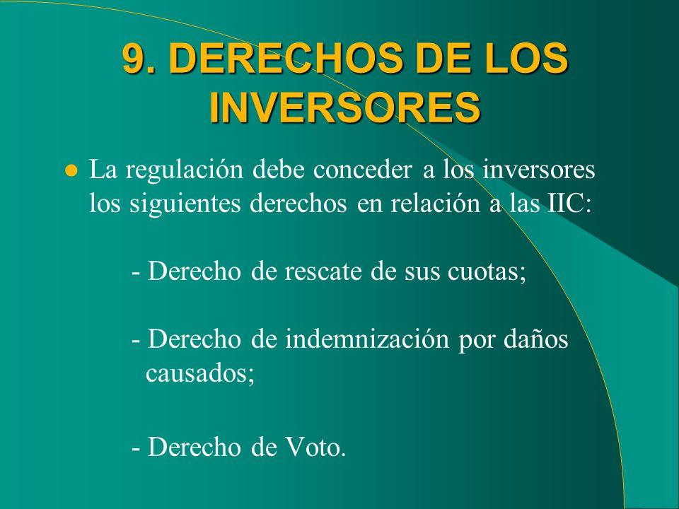 9. DERECHOS DE LOS INVERSORES