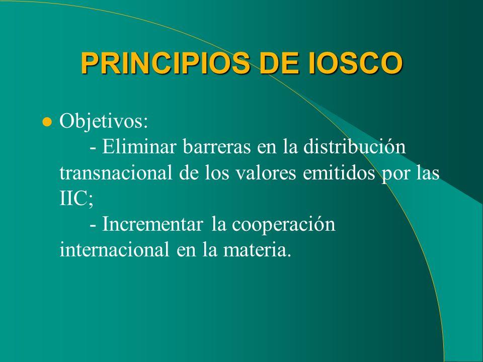 PRINCIPIOS DE IOSCO