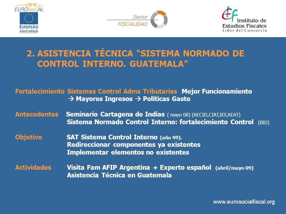 ASISTENCIA TÉCNICA SISTEMA NORMADO DE CONTROL INTERNO. GUATEMALA