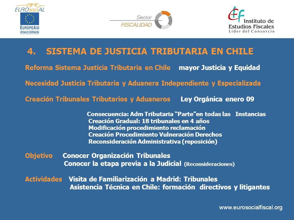 4. SISTEMA DE JUSTICIA TRIBUTARIA EN CHILE