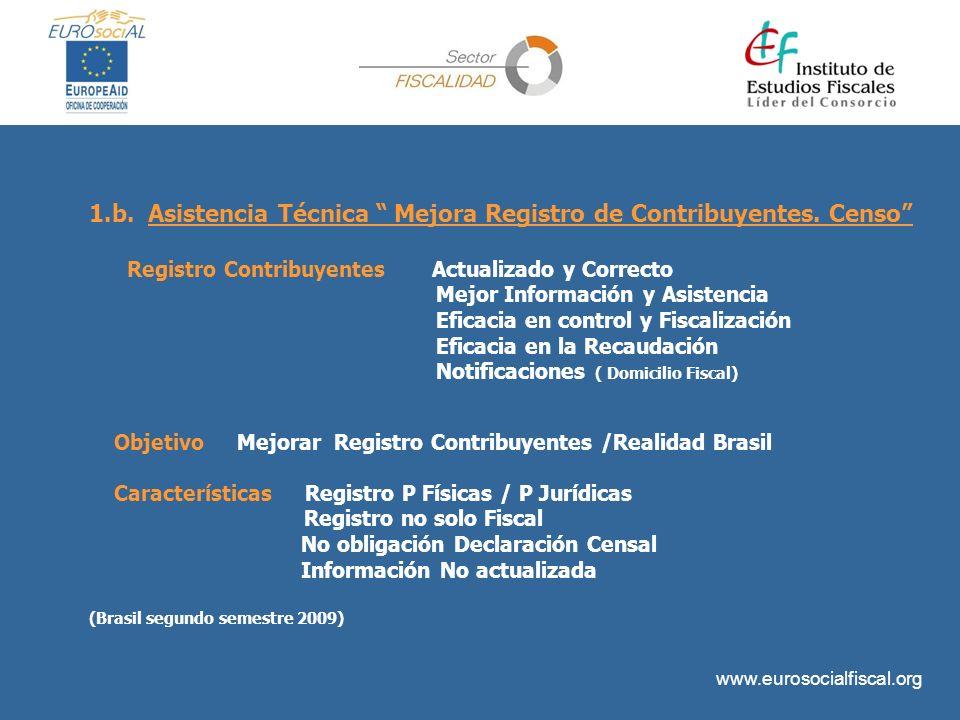 1.b. Asistencia Técnica Mejora Registro de Contribuyentes. Censo