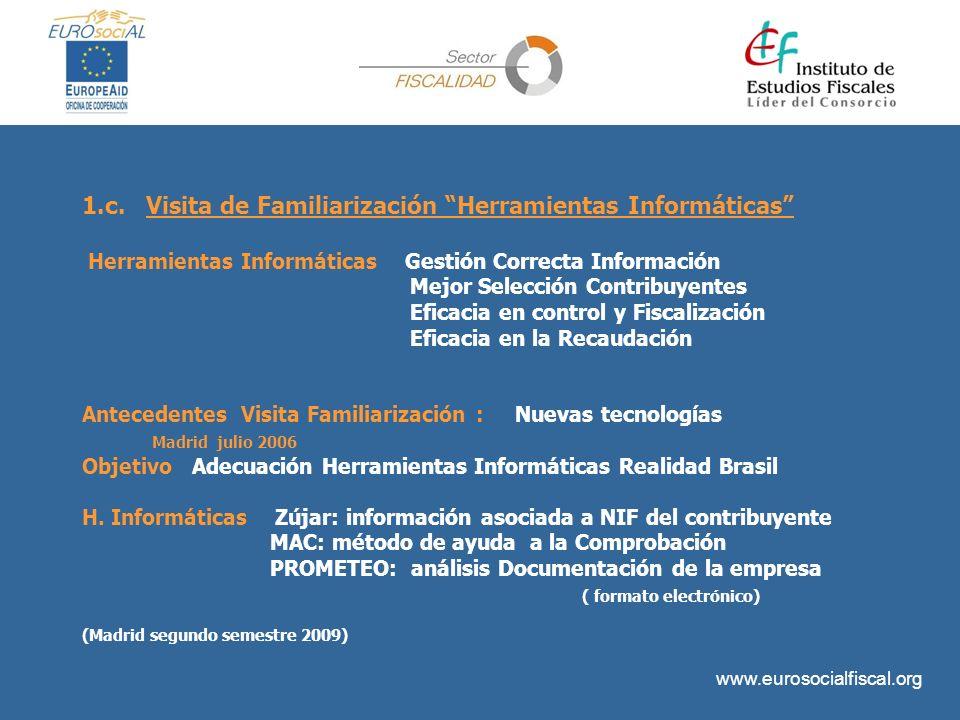 1.c. Visita de Familiarización Herramientas Informáticas