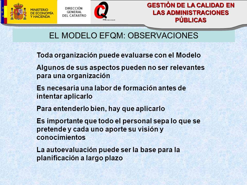 EL MODELO EFQM: OBSERVACIONES