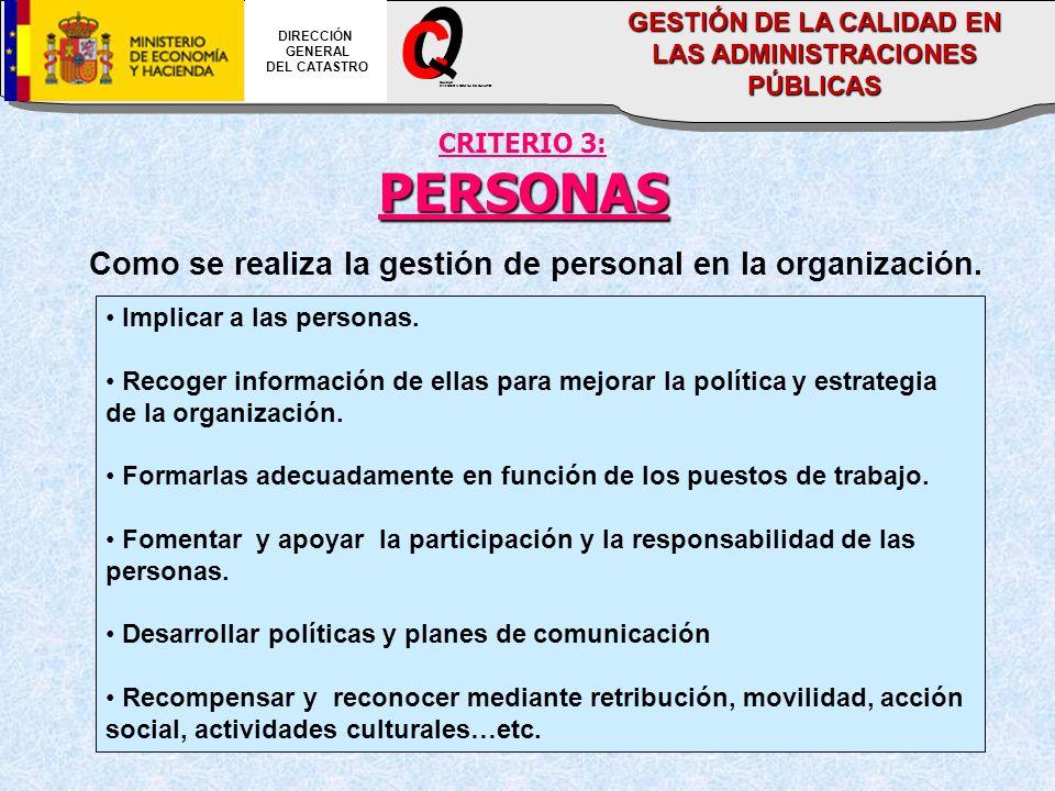 DIRECCIÓN GENERAL. DEL CATASTRO. O. C. _. DIRECCION GENERAL DEL CATASTRO. CALIDAD. GESTIÓN DE LA CALIDAD EN LAS ADMINISTRACIONES PÚBLICAS.
