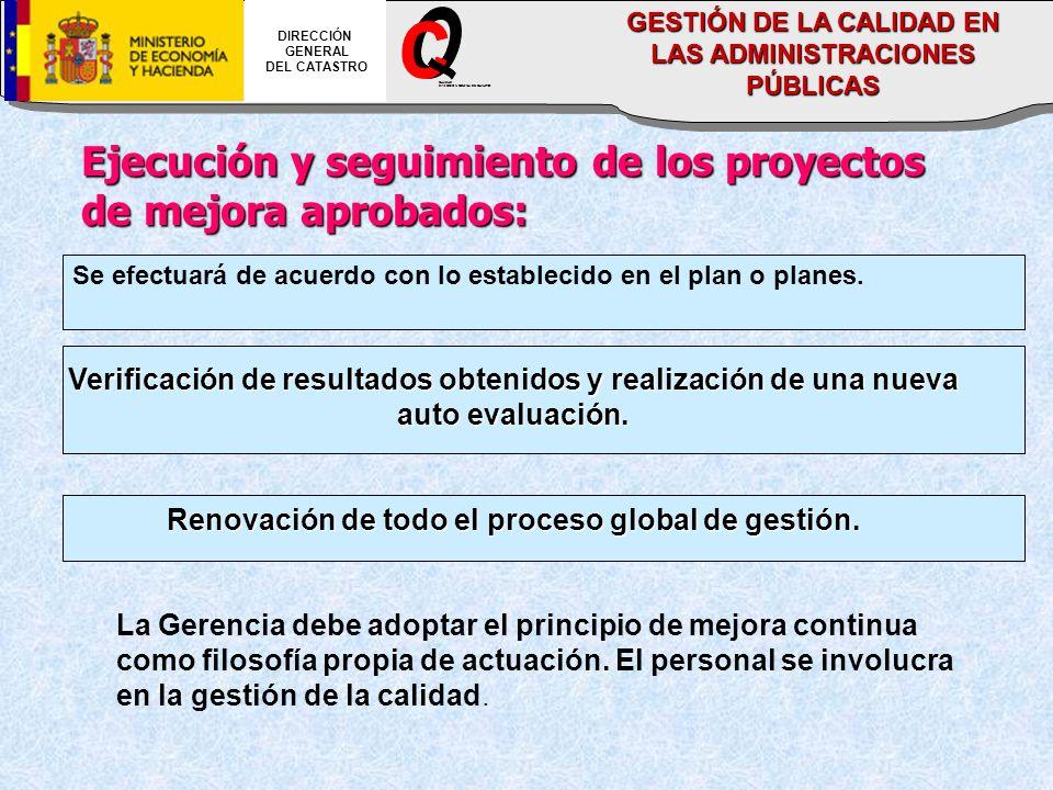 O C _ Ejecución y seguimiento de los proyectos de mejora aprobados: