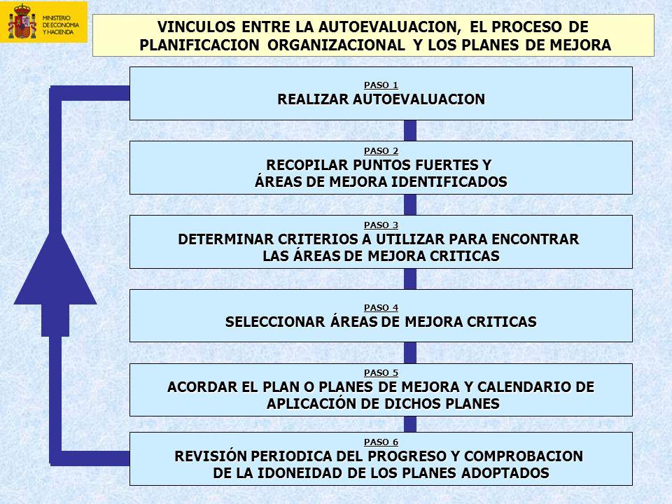 VINCULOS ENTRE LA AUTOEVALUACION, EL PROCESO DE