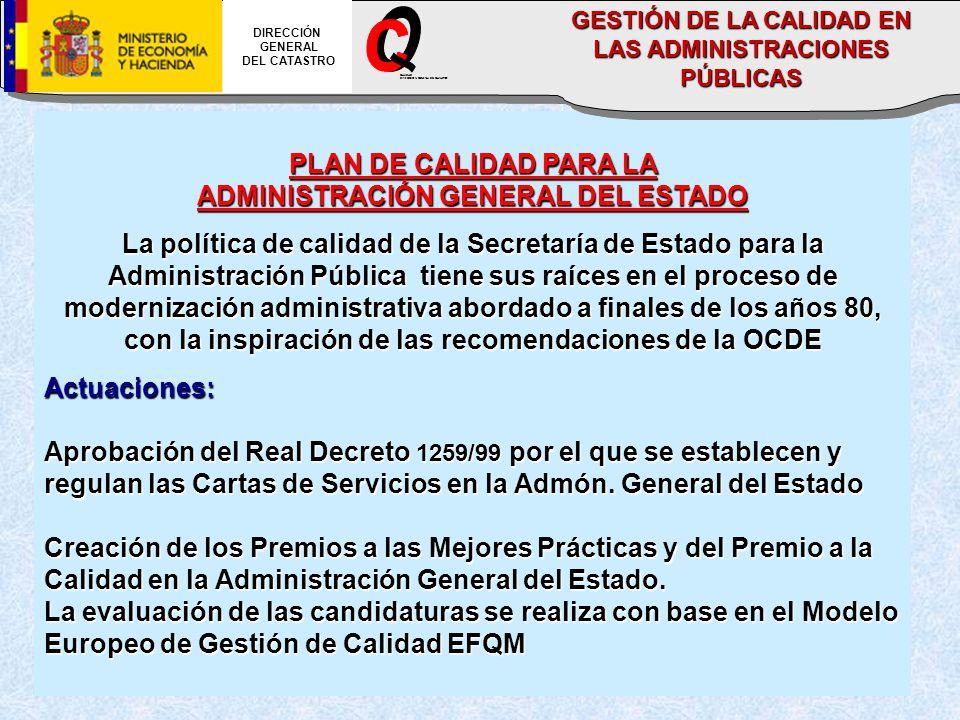 O C _ PLAN DE CALIDAD PARA LA ADMINISTRACIÓN GENERAL DEL ESTADO