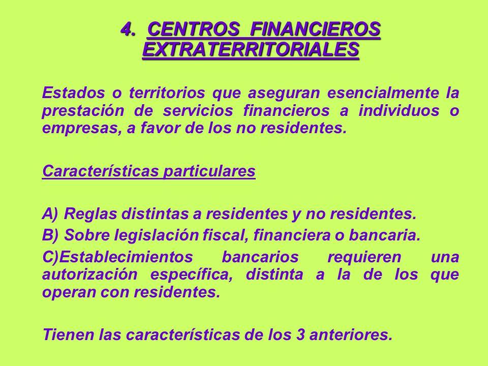 4. CENTROS FINANCIEROS EXTRATERRITORIALES