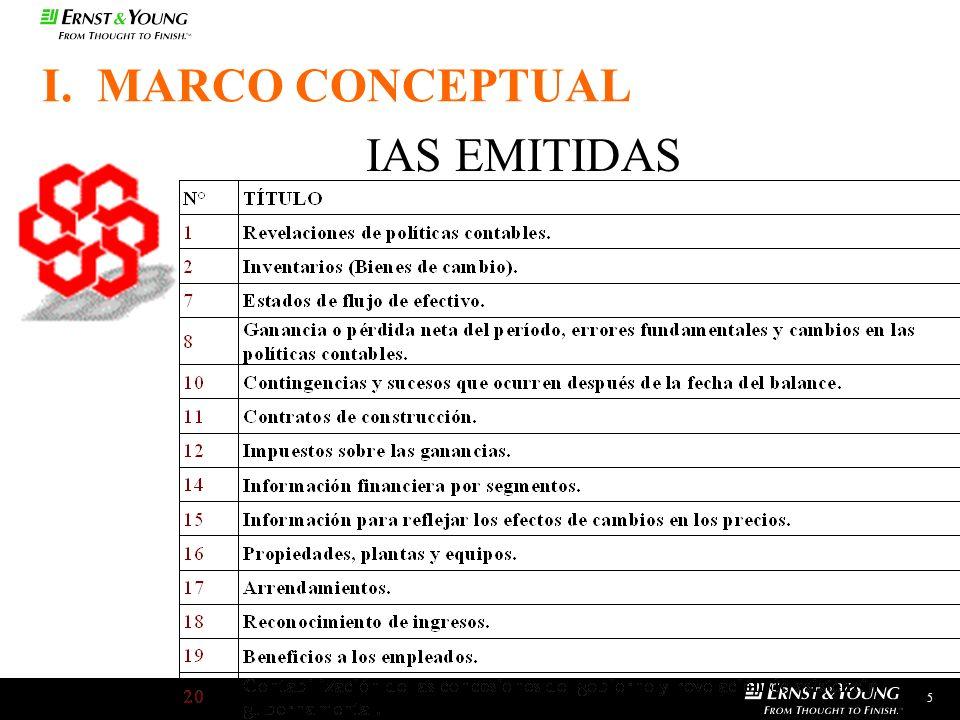I. MARCO CONCEPTUAL IAS EMITIDAS 5