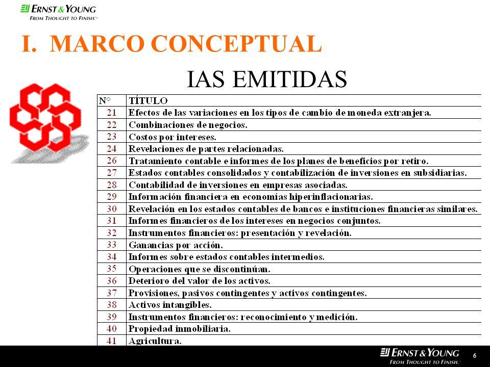 I. MARCO CONCEPTUAL IAS EMITIDAS 6