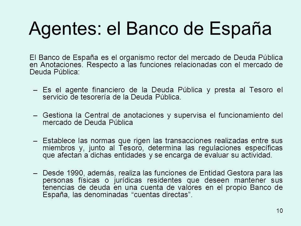 Agentes: el Banco de España