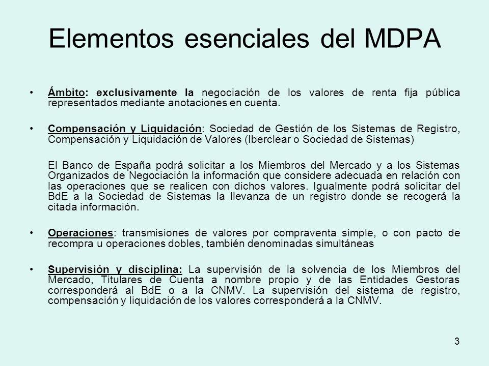 Elementos esenciales del MDPA