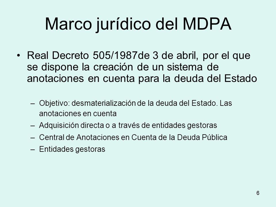 Marco jurídico del MDPA
