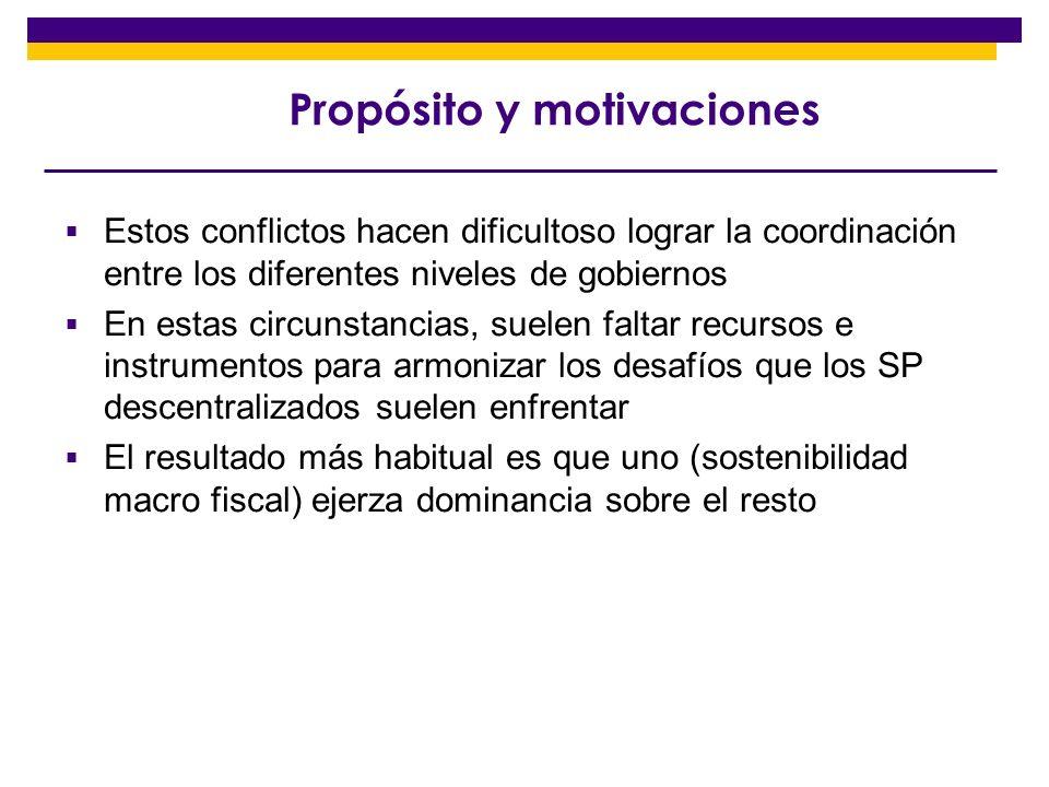 Propósito y motivaciones
