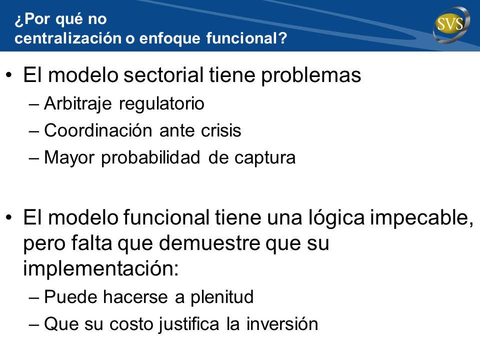 ¿Por qué no centralización o enfoque funcional