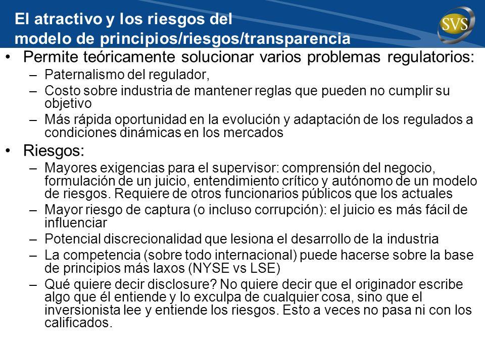 Permite teóricamente solucionar varios problemas regulatorios: