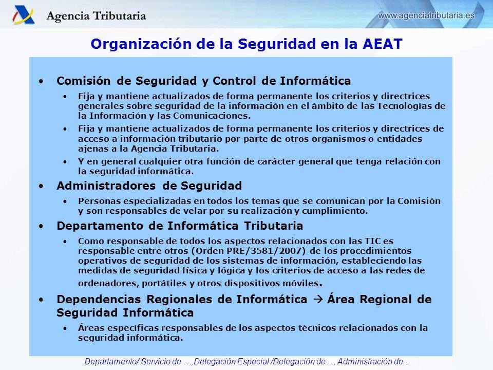 Organización de la Seguridad en la AEAT
