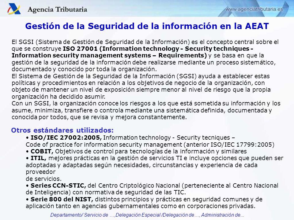 Gestión de la Seguridad de la información en la AEAT