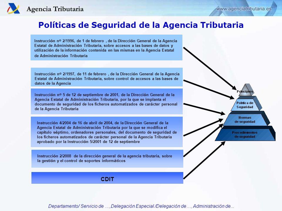 Políticas de Seguridad de la Agencia Tributaria