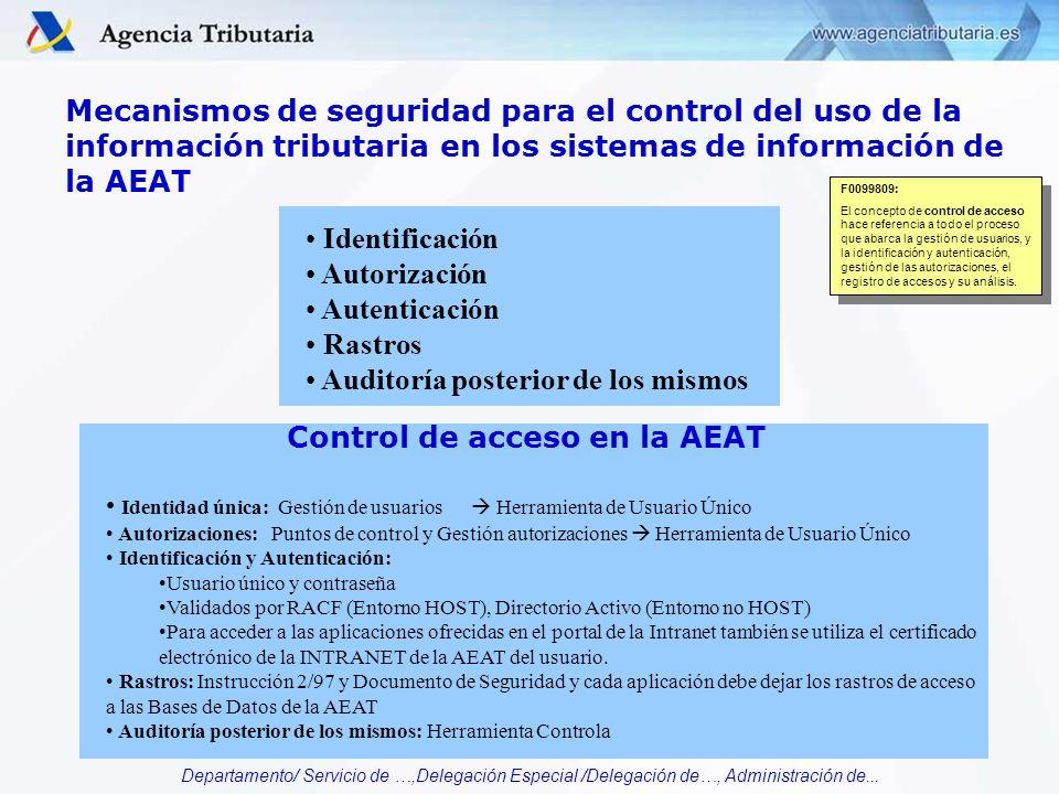 Control de acceso en la AEAT