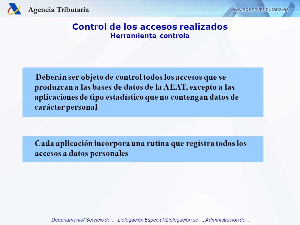Control de los accesos realizados