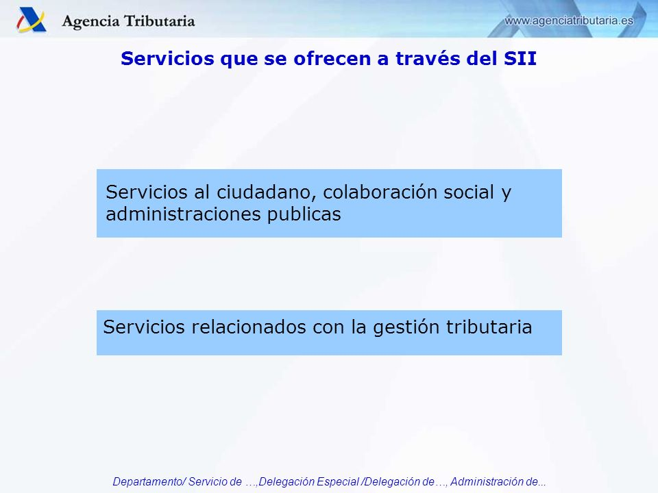 Servicios que se ofrecen a través del SII