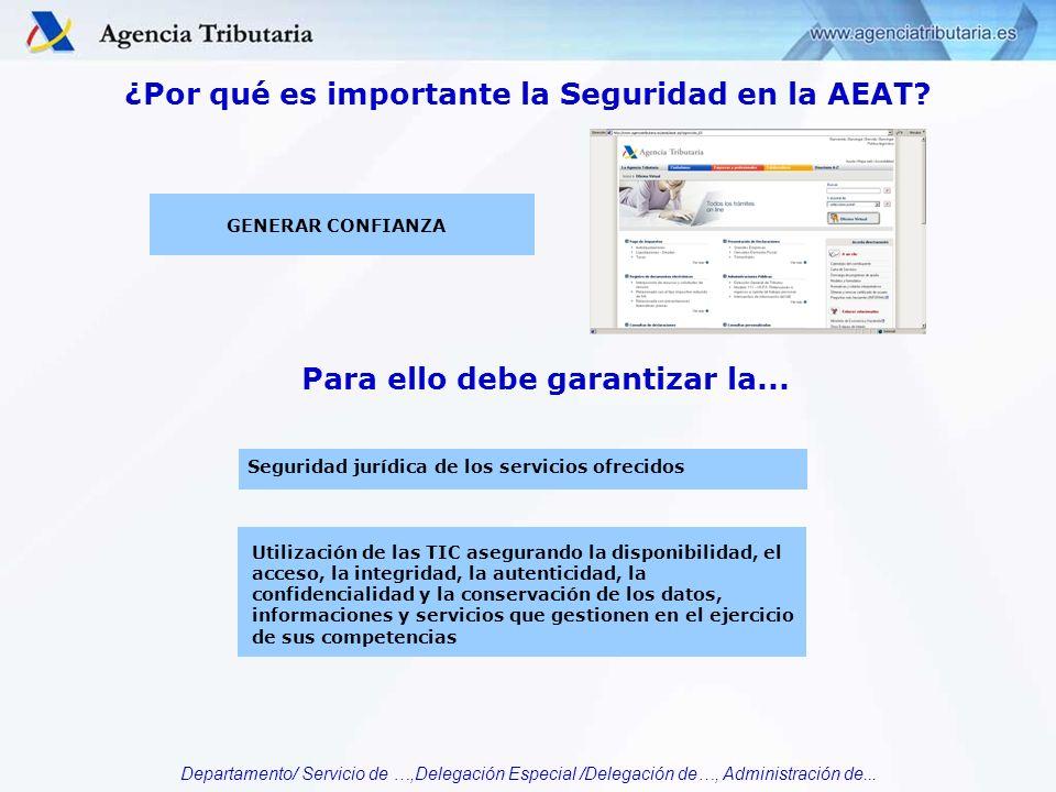 ¿Por qué es importante la Seguridad en la AEAT