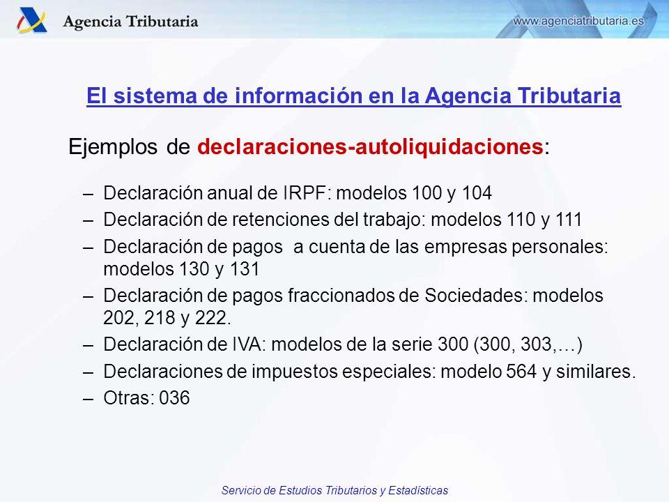 El sistema de información en la Agencia Tributaria