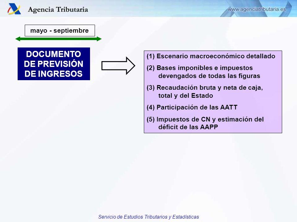 DOCUMENTO DE PREVISIÓN DE INGRESOS